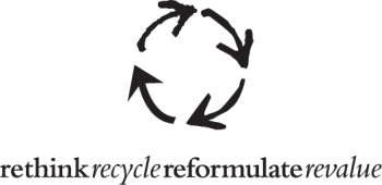 rethink recycle reformulate revalue logo